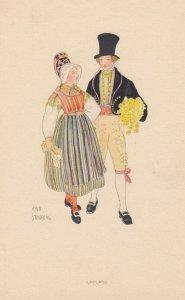 Couple ,UPPLAND , Sweden , 1930-50s : Aina Stenberg