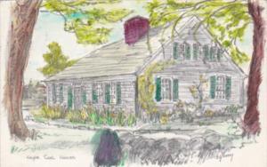 Massachusetts Cape Cod An Old House 1958