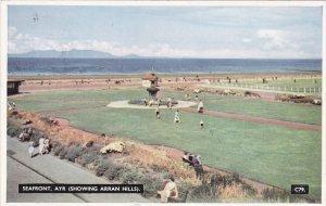 AYR, Ayrshire, Scotland, 1940-1960's; Seafront, Showing Arran Hills