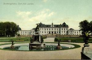 sweden, STOCKHOLM, Drottningholms Slott fran Parken (1910s)