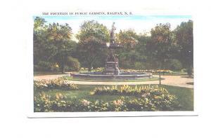 The Fountain in Public Gardens Halifax Nova Scotia,