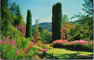 Butchart Gardens Victoria BC UNUSED Vintage Kodachrome Postcard D97