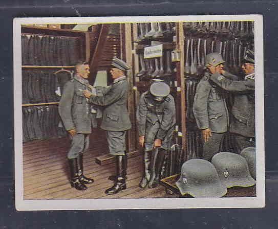 GERMANY TOBACCO CARD WWI 6x5 cms. RECRUITING, UNIFORMS AA...