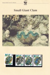 Small Giant Clam WWF Niue Stamps and Set Of 4 First Day Cover Bundle
