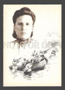 085022 WWII RUSSIAN Red cross nurses hero Shkarletova Maria PC