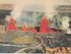 Eruption of MAUNA LOA , Hawaii National Park , 1947 ; Giant PC