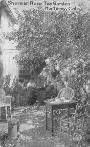 SHERMAN ROSE TEA GARDEN Monterey, California ca 1910s Vintage Postcard