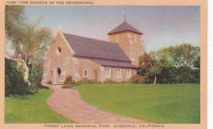 California Glendale Church Of The Recessional Forest Lawn Memorial Park 1945