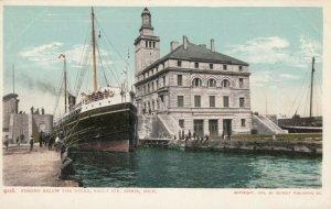 SAULT STE. MARIE, Michigan, 1901-07; Fishing Below the Docks