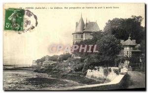 Old Postcard Pornic Le Chateau View Perpective of Entree du Port Maree Basse