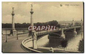 Old Postcard Liege Bridge Fragnee