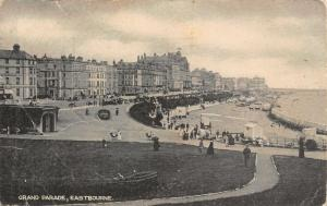 Eastbourne Grand Parade Promenade Beach Postcard