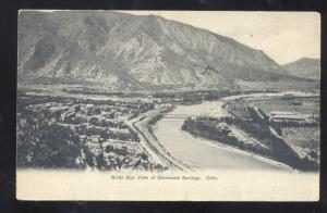 GLENWOOD SPRINGS COLORADO BIRDSEYE VIEW VINTAGE POSTCARD 1906