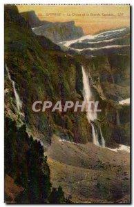 Old Postcard Gavarnie Circus and al large waterfall