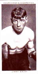 Churchman Cigarette Card Boxing Personalities No 37 Jimmy Walsh