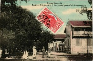 CPA Dakar Boulevard National et le Scretariat SENEGAL (821982)