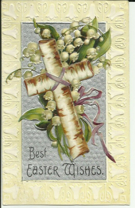 Best Easter Wishes Embossed  series no 974