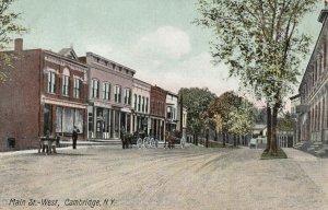 CAMBRIDGE , New York , 1909 ; Main Street West