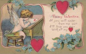 To My Valentine, Cupid writing a letter, PU-1909
