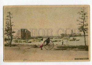 3037525 JAPAN YOKOHAMA Bund Ships Rickshaw Vintage PC