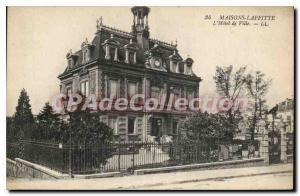 Old Postcard Maisons Laffitte Hotel De Ville