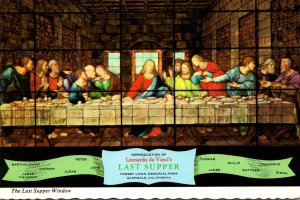 The Last Supper Window At Forest Lawn 1978