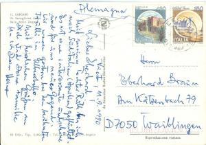 Italy, Il Gargano, 1990 used Postcard