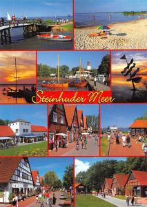 Steinhuder Meer multiviews Bruecke Strand Hafen Schiff Harbour Sunset Promenade