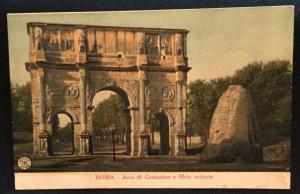 Postcard Unused Rome Italy Arco di Costantino e Meta sudante  LB