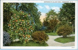 NY - Jamestown, Entrance to Allen Park