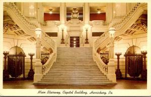 Pennsylvania Harrisburg Capitol Building Main Stairway