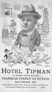 Baltimore MD Hotel Tipman Dining 65 Rooms w/Baths Drawing Advertisement Postcard