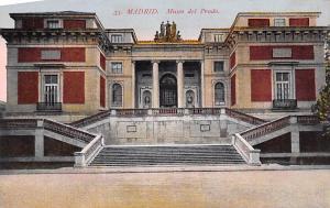 Spain Old Vintage Antique Post Card Museo del Prado Madrid Unused