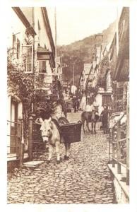 Devon Nostalgia Postcard Clovelly High Street Reproduction Card NS20
