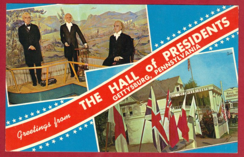 GRREETINGS FROM HALL OF PRESIDENTS, GETTYSBURG, PENNSYLVANIA (PC186) SEE SCAN