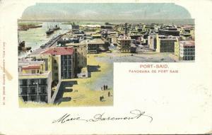 egypt, PORT-SAID, Panorama (1903) Stamp