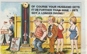 Of coursr your husband get it up.. Humorous sauy English  postcard 1950s
