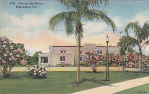 Florida Kissimmee The Community House 1943 Curteich
