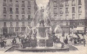 NANTES, Loire Atlantique, France, 1900-1910's; La Palace Royale, Fountain View