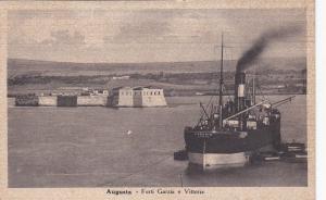 Augusta , Sicilia , Italy , 1939 : Forti Garza e Vittoria , Ship