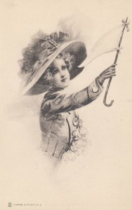 Woman waving a white flag , 00-10s ; Signed SHORMAN