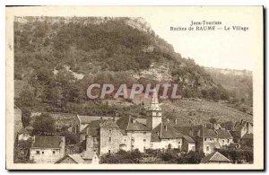 Old Postcard Jura Baume Rocks Tourist Village