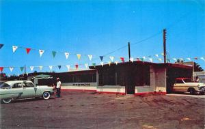 Los Angeles CA Car Wash 76 Mobil Gas Station Postcard