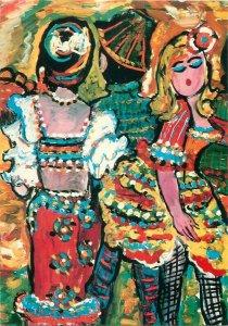 Painting drawing Postcard Vanya Petrova singer