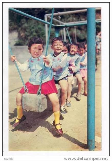 Chinese Children at play, Taipei, Taiwan, 50-60s