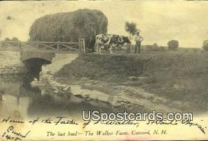 Last Load, Walker Farm Concord NH 1907