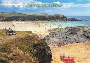 Cornwall Postcard, Treyarnon Bay near Padstow by John Hinde Ltd S60