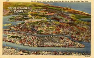 NY - 1939 New York World's Fair. Aerial View