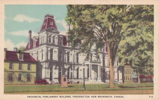 Provincial Parliament Building - Fredericton NB, New Brunswick, Canada - Linen