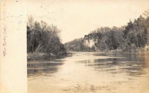 Restful MO~Blue Spring Lodge~Bluffs on River~Type 3 Sharp Doane Cancel~1906 RPPC